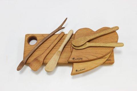 木のカトラリーセット - デリカテッセンイーハトーヴ